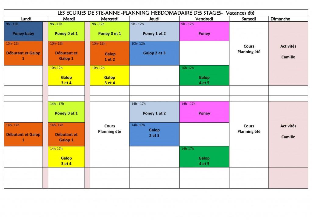 Planning Des Stages Pour L 39 T 2015